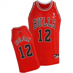Maillot NBA Authentic Michael Jordan #12 Chicago Bulls Throwback Rouge - Homme