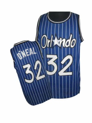 Maillot NBA Bleu royal Shaquille O'Neal #32 Orlando Magic Throwback Authentic Homme Adidas