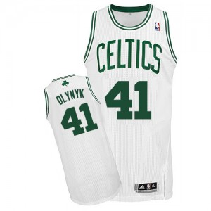 Maillot NBA Boston Celtics #41 Kelly Olynyk Blanc Adidas Authentic Home - Homme