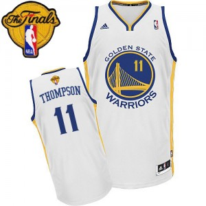 Maillot Adidas Blanc Home 2015 The Finals Patch Swingman Golden State Warriors - Klay Thompson #11 - Homme
