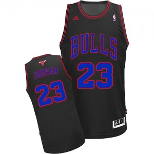 Maillot Adidas Noir Bleu Authentic Chicago Bulls - Michael Jordan #23 - Homme