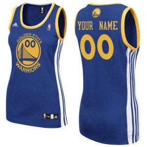 Maillot Golden State Warriors NBA Road Bleu royal - Personnalisé Swingman - Femme