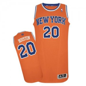 New York Knicks Allan Houston #20 Alternate Authentic Maillot d'équipe de NBA - Orange pour Homme