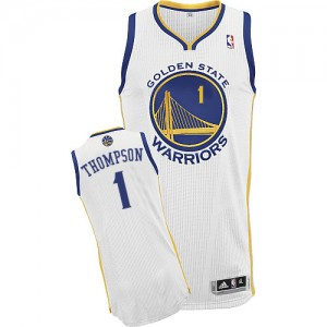 Maillot NBA Golden State Warriors #1 Jason Thompson Blanc Adidas Authentic Home - Homme
