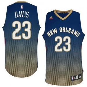 Maillot Adidas Bleu marin Resonate Fashion Swingman New Orleans Pelicans - Anthony Davis #23 - Homme