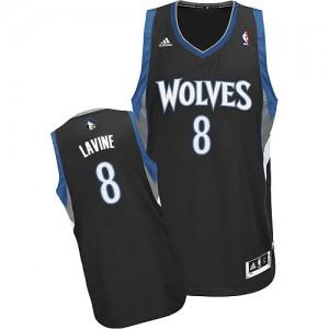 Maillot Swingman Minnesota Timberwolves NBA Alternate Noir - #8 Zach LaVine - Homme