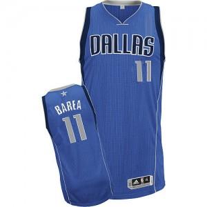 Maillot Adidas Bleu royal Road Authentic Dallas Mavericks - Jose Barea #11 - Enfants