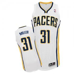 Indiana Pacers #31 Adidas Home Blanc Authentic Maillot d'équipe de NBA Expédition rapide - Reggie Miller pour Homme