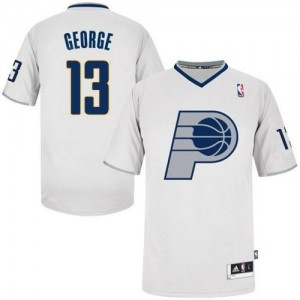 Maillot NBA Blanc Paul George #13 Indiana Pacers 2013 Christmas Day Authentic Homme Adidas