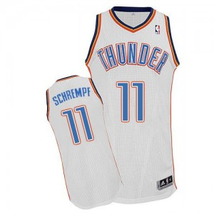 Maillot Adidas Blanc Home Authentic Oklahoma City Thunder - Detlef Schrempf #11 - Homme