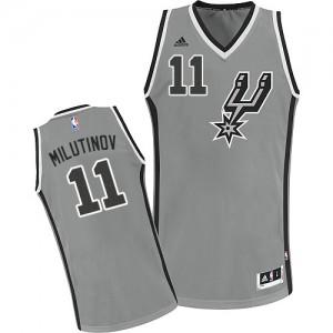 San Antonio Spurs #11 Adidas Alternate Gris argenté Swingman Maillot d'équipe de NBA sortie magasin - Nikola Milutinov pour Homme
