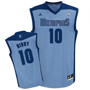 Maillot NBA Swingman Mike Bibby #10 Memphis Grizzlies Alternate Bleu clair - Homme