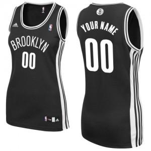 Maillot NBA Swingman Personnalisé Brooklyn Nets Road Noir - Femme