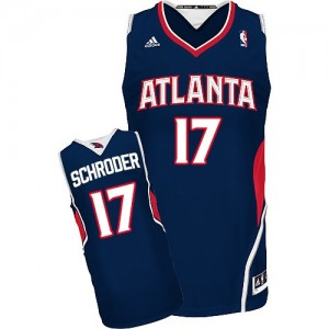 Atlanta Hawks #17 Adidas Road Bleu marin Swingman Maillot d'équipe de NBA en vente en ligne - Dennis Schroder pour Homme