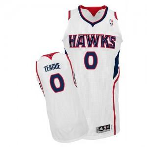 Atlanta Hawks #0 Adidas Home Blanc Authentic Maillot d'équipe de NBA achats en ligne - Jeff Teague pour Homme