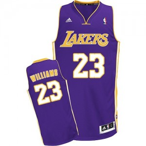 Maillot NBA Violet Louis Williams #23 Los Angeles Lakers Road Swingman Homme Adidas