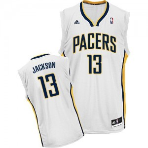 Maillot Adidas Blanc Home Swingman Indiana Pacers - Mark Jackson #13 - Homme