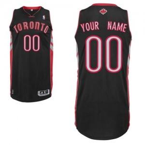 Toronto Raptors Personnalisé Adidas Alternate Noir Maillot d'équipe de NBA pas cher - Authentic pour Homme