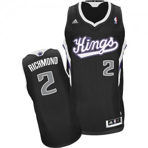 Maillot NBA Sacramento Kings #2 Mitch Richmond Noir Adidas Swingman Alternate - Homme