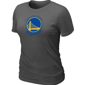 T-shirt principal de logo Golden State Warriors NBA Big & Tall Gris foncé - Femme