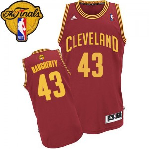 Maillot Swingman Cleveland Cavaliers NBA Road 2015 The Finals Patch Vin Rouge - #43 Brad Daugherty - Homme