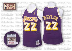 Los Angeles Lakers #22 Mitchell and Ness Throwback Violet Authentic Maillot d'équipe de NBA Soldes discount - Elgin Baylor pour Homme