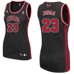 Maillot NBA Chicago Bulls #23 Michael Jordan Noir Adidas Swingman Alternate - Femme