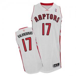 Maillot Adidas Blanc Home Authentic Toronto Raptors - Jonas Valanciunas #17 - Homme