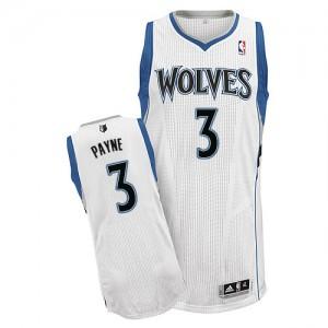 Minnesota Timberwolves #3 Adidas Home Blanc Authentic Maillot d'équipe de NBA Expédition rapide - Adreian Payne pour Homme