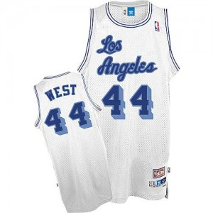 Maillot Authentic Los Angeles Lakers NBA Throwback Blanc - #44 Jerry West - Homme