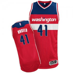 Maillot Adidas Rouge Road Authentic Washington Wizards - Wes Unseld #41 - Homme