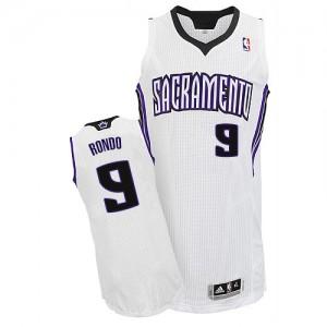 Maillot NBA Blanc Rajon Rondo #9 Sacramento Kings Home Authentic Homme Adidas