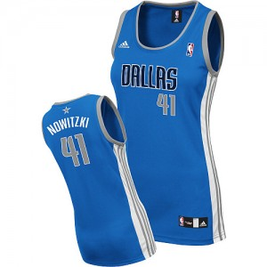 Maillot Swingman Dallas Mavericks NBA Road Bleu royal - #41 Dirk Nowitzki - Femme