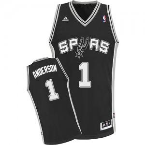 San Antonio Spurs Kyle Anderson #1 Road Swingman Maillot d'équipe de NBA - Noir pour Homme