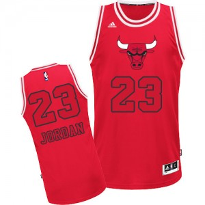 Chicago Bulls Michael Jordan #23 New Fashion Authentic Maillot d'équipe de NBA - Rouge pour Homme