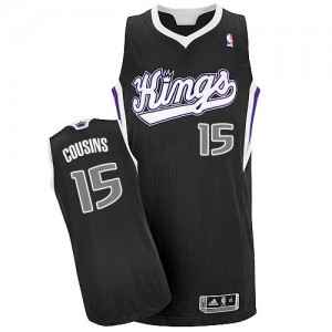 Maillot NBA Authentic DeMarcus Cousins #15 Sacramento Kings Alternate Noir - Homme