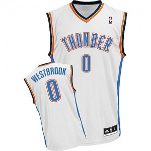 Maillot Adidas Blanc Home Authentic Oklahoma City Thunder - Russell Westbrook #0 - Enfants