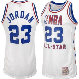 Maillot NBA Authentic Michael Jordan #23 Chicago Bulls Throwback 1985 All Star Blanc - Homme