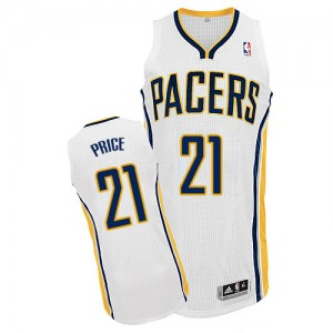 Maillot NBA Blanc A.J. Price #21 Indiana Pacers Home Authentic Homme Adidas