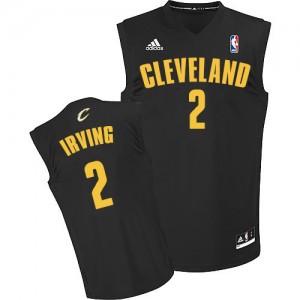 Cleveland Cavaliers Kyrie Irving #2 Fashion Authentic Maillot d'équipe de NBA - Noir pour Homme