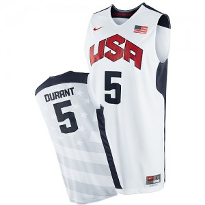 Maillot NBA Swingman Kevin Durant #5 Team USA 2012 Olympics Blanc - Homme