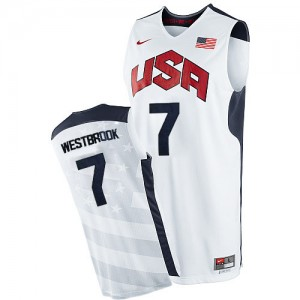 Maillots de basket Swingman Team USA NBA 2012 Olympics Blanc - #7 Russell Westbrook - Homme