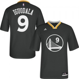 Maillot Swingman Golden State Warriors NBA Alternate Noir - #9 Andre Iguodala - Homme