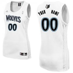 Maillot Adidas Blanc Home Minnesota Timberwolves - Swingman Personnalisé - Femme