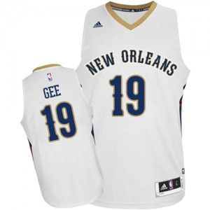 Maillot Authentic New Orleans Pelicans NBA Home Blanc - #19 Alonzo Gee - Homme