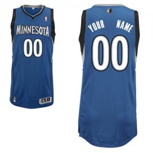 Maillot Adidas Slate Blue Road Minnesota Timberwolves - Authentic Personnalisé - Enfants