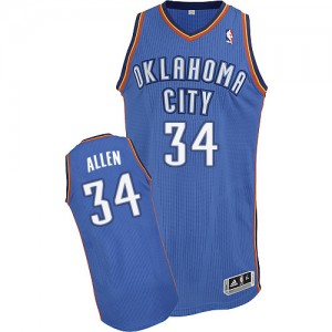 Oklahoma City Thunder #34 Adidas Road Bleu royal Authentic Maillot d'équipe de NBA la vente - Ray Allen pour Homme