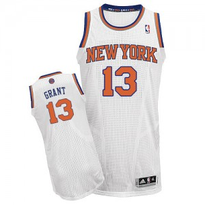 Maillot NBA Authentic Jerian Grant #13 New York Knicks Home Blanc - Homme