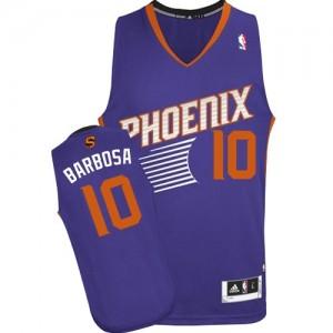Phoenix Suns #10 Adidas Road Violet Authentic Maillot d'équipe de NBA pas cher - Leandro Barbosa pour Homme