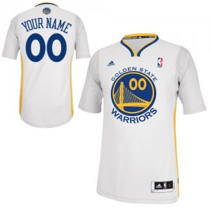 Maillot Golden State Warriors NBA Alternate Blanc - Personnalisé Swingman - Femme
